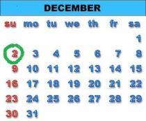 Dec 2 - December