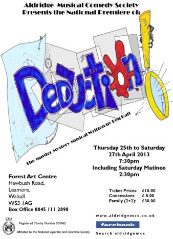 Deduction - Aldridge Musical Comedy Society