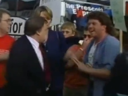 Aug 18 - John Prescott gets egged by man with bad hairdoo
