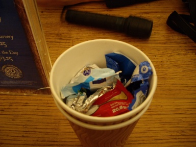 Sept 15 - Wrappers in a cup © Antony N Britt