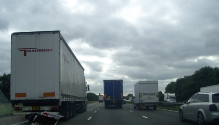 Sept 22 - Lorry Overtaking Another Lorry © David Britt