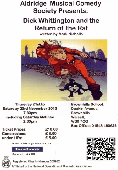 Aldridge Musical Comedy Society - Dick Whittington and the Return of the Rat