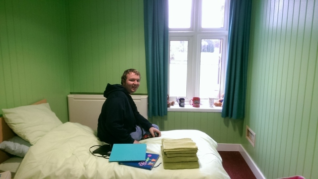 Living with David - New College Bedroom. © Antony N Britt
