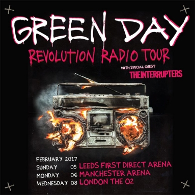 Green Day – First Direct Arena, Leeds – 5 February 2017