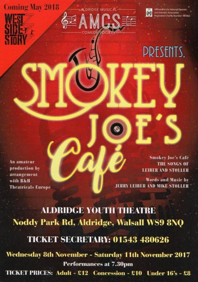 Smokey Joe's Café – Aldridge Youth Theatre – 8 to 11 November 2017
