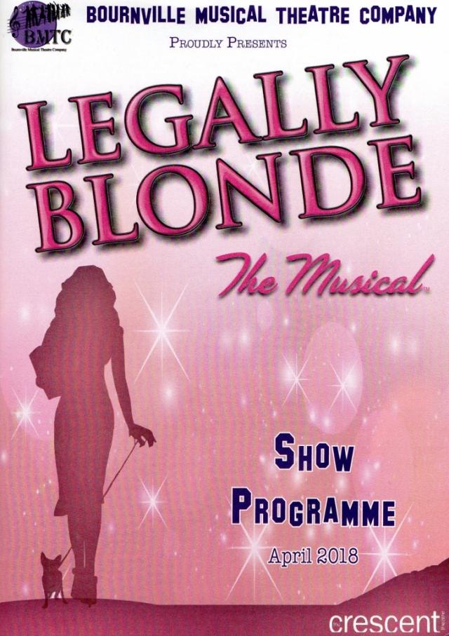 Legally Blonde – The Crescent Theatre, Birmingham – 26 April 2018 Bournville Musical Theatre Company BMTC