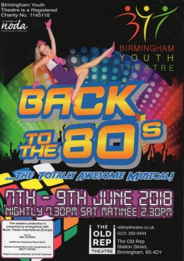 Back to the 80s – Old Rep Theatre, Birmingham – 9 June 2018