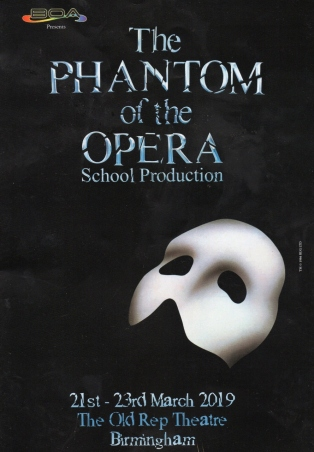 Phantom of the Opera – The Old Rep Theatre, Birmingham – 22 March 2019