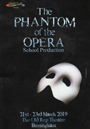 Phantom of the Opera – The Old Rep Theatre, Birmingham – 22 March 2019